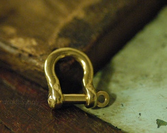 BRASS Shackle Joint Connect Key Chain Hook S for Leather Craft