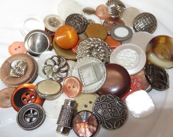 Creamsicle Vintage Button Collection - 48 unique buttons