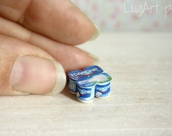 Pack of yogurt  for  1/12 scale
