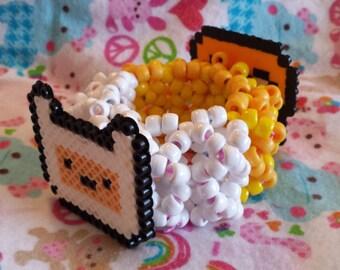 Finn and Jake 3D Cuff - Rave - Festival - Kandi Cuff - Adventure Time - Ready to ship