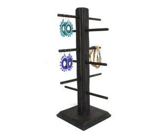 Jewelry Display, Wood Earring Display, Wood Bracelet Display, Earring Stand, Jewelry Stand, Earring Tree, Earring Holder, Choose the Stain