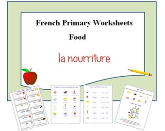 FOOD FRENCH WORSHEETS-French Teacher's Resources-French Learning-Activities-Classroom-Teacher-Kids-School-Education-School-Learning-Pages