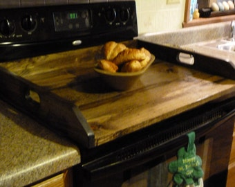 Primitive Kitchen, Noodle Board, Dough Board, Wooden Tray, Laundry Room Decor, Stove Top Cover, Washer Dryer Cover, Sink Cover