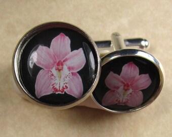 Orchid Cufflinks