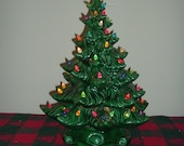 Large Lighted Ceramic Christmas Tree