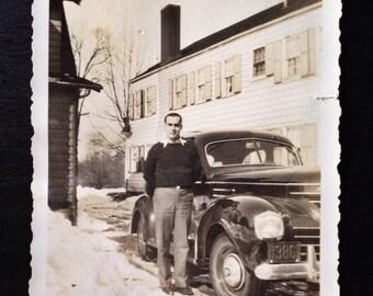 Original Antique Photograph Bud's New Car