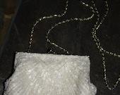 White Beaded Seashell Formal Purse NEW