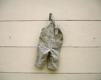 Vintage overalls for little boys (6-9 months)