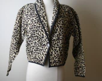 Vintage Animal Print Jacket