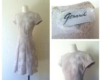 Vintage Maple Leaf Fit & Flare Dress 1960's