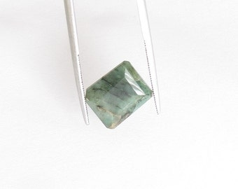 Natural Green Emerald, Unheated, Fancy Cut, 6.02 carats