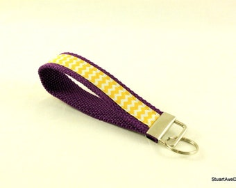 University Edition - Purple and Gold Key Fob Wristlet
