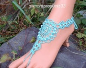 Seahorse Crochet Barefoot Sandal, Barefoot Seahorse Jewelry, Anklet, Bracelet, Nautical Wedding, Sandals Jewelry, Foot Jewelry