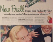 PRELL SHAMPOO Original Vintage Beauty Hair Magazine Advertisement Bathroom Decor Additional Ads Ship Free Ready To Frame