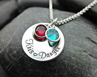 Mother's / Grandmother's Personalized Necklace - Names - Birthstones - Cupped / Domed