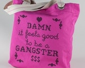 Canvas Cotton Tote - Gangster - Pink