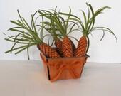 Easter Carrot Basket Pine Cones