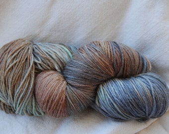 handdyed Merino/silkyarn 100g/3,5oz, colour pebbles