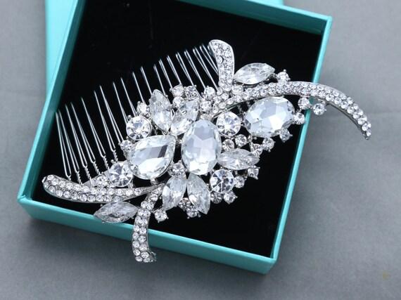 Bridal Hair Comb, Wedding Hair Comb, Large SWAROVSKI Crystal Wedding Hair Comb, Vintage Style Hair Comb, Large Hair Comb, Hair Accessory