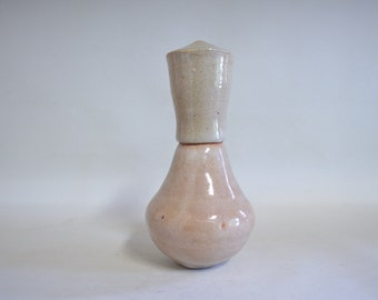 Ash glazed sake cup tokuri 4510, shibui, wood fired