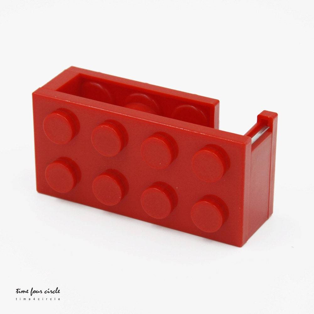 Red Tape Dispenser Block Tape Dispenser DYI Tool