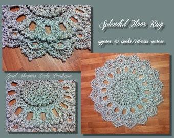 Giant Crochet Doily Floor Rug