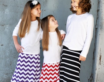 Clearance!! Purple Chevron Maxi Skirt ***Sale*** Toddler Little Girl Tween READY TO SHIP