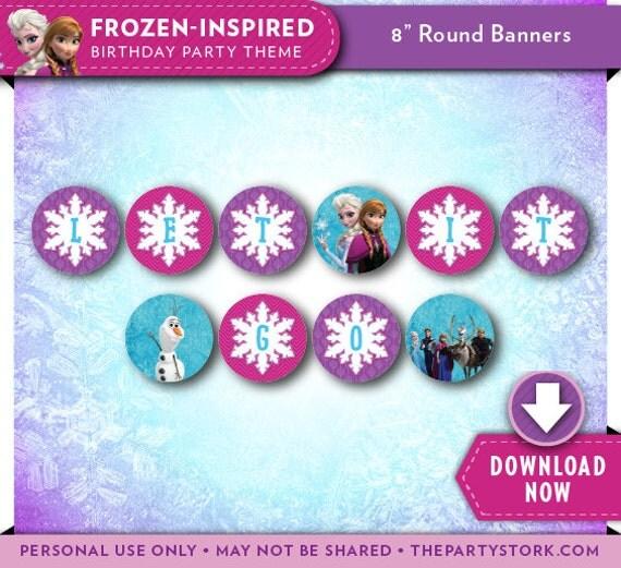 Frozen Birthday Banner Printable Frozen Banner Party By: Printable Frozen Birthday Party Banner
