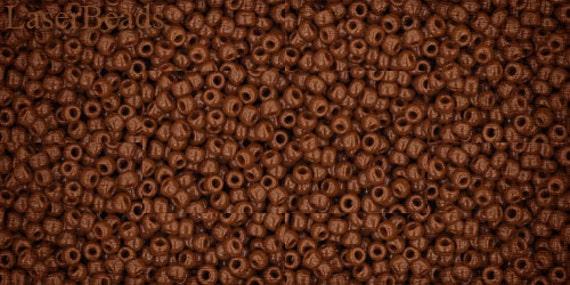 11/0 TOHO seed beads 10g Toho beads 11/0 seed beads Opaque TerraCotta 11-46L Brown