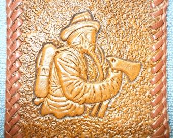 custom firemen's  wallet / billfold, Firefighter wallet  (37)
