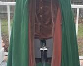LOTR Fellowship Inspired Frodo Traveling Coat, Vest, Cloak