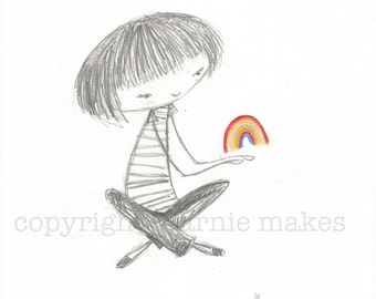 A Handful of Happiness - giclee print