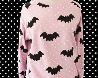 New Hello Cavities Twinkle Twinkle Bat Sweatshirt in PINK