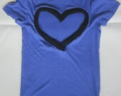 Lavender Heart Back short sleeve V-Neck Upcycled from Gap Favorite sizes small medium large and XL