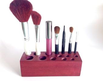Violet Wood Cosmetic Storage Organizer
