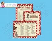 Sock Monkey Baby Shower Games  INSTANT DOWNLOAD  Printable  Digital file  JPG