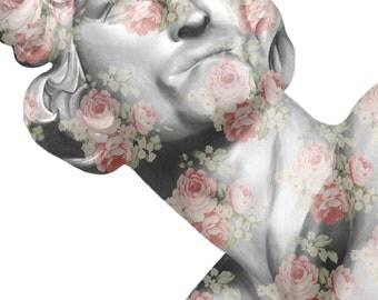 Floral Bernini Illustration Print by Tania Qurashi