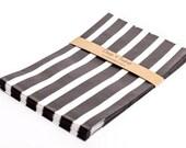 SALE 20 Black Vertical Striped Bitty Bags 5 x 7.5