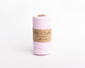 25 Yards Cotton Candy Pink Divine Twine Baker's Twine/ Pink Twine/ Gift Wrap Twine/ Bakers Twine/ Bakery Twine