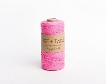 SALE 25 Yards Solid Pink Divine Twine Baker's Twine