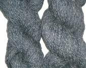Handspun Yarn: 2 Ply Gray with Sparkle