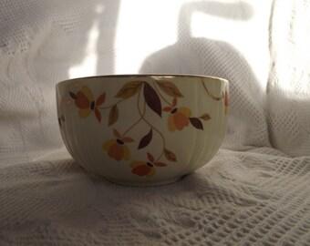 "Small Hall Pottery Autumn Leaf Jewel Tea Mixing Bowl 6 1/4"""