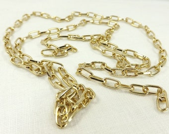 Rolo Chain Unfinished 9x5mm link Oval Craft supplies gold finished steel Jewelry Supply unfinished chain craft supplies