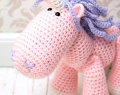 SALE - Medium Unicorn Crochet Plush Toy - Pink and Purple - Made To Order
