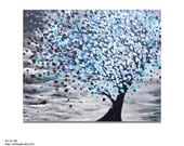 Modern Tree Painting Original Tree Wall Art 16x20