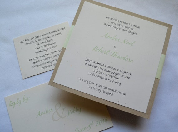 Wedding Invitations Recycled Paper: Summer Fling Recycled Wedding Invitations Set Of 75 Taupe