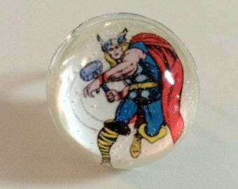 Thor Ring - Thor - Thor Resin Ring - God of Thunder - Thor's Hammer Ring - Marvel Comics - Thor Jewelry - Thor Photo Ring - Avengers Ring