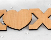 BeArtXi Wooden XoXi IttXi Letters.