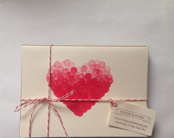Red Heart Cards- Set of 8