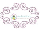 Swirly Frame Applique Machine Embroidery Design